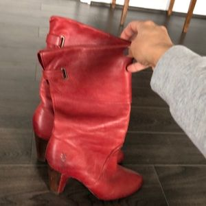 Red Frey boots